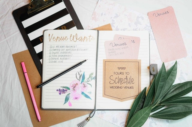 Agenda wedding planner